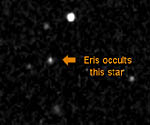 Star occulted by Eris