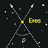 Eros and its parallax