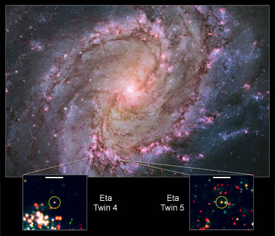 Eta Carinae twins in M83
