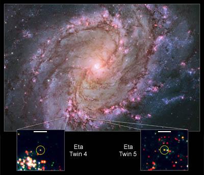 Eta Carinae twins in M83