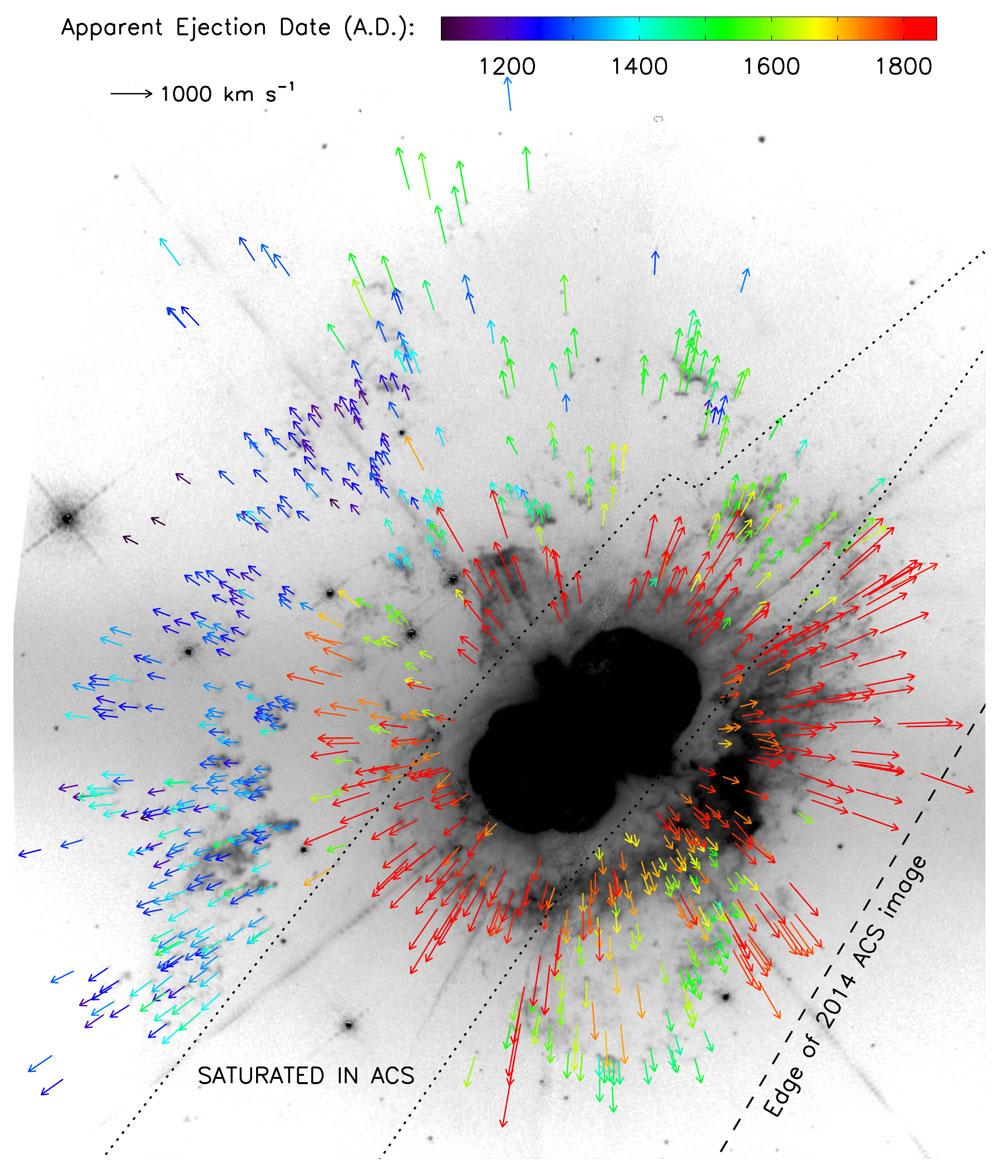 Eta Carinae Ejecta Speeds