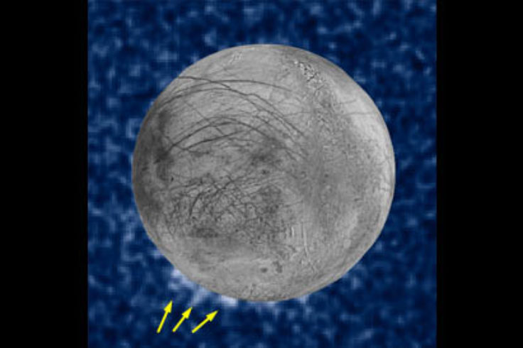 Erupted plumes on Europa?