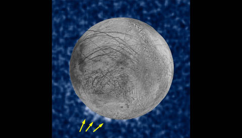Erupting plumes on Europa?