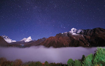 Orion rises above the Himalaya