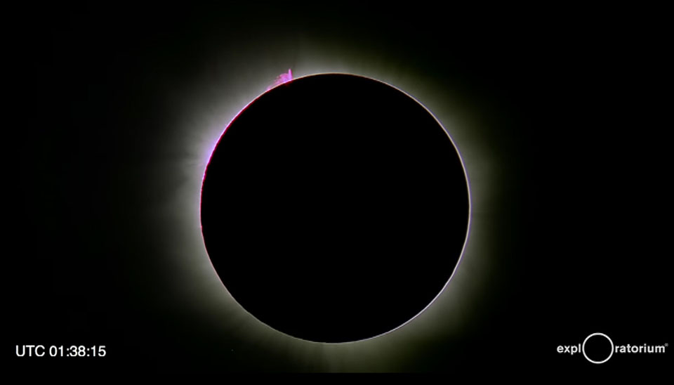 Totality with big prominence