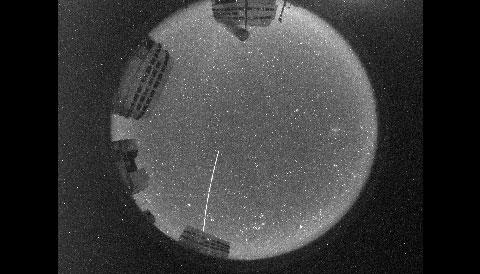 FRIPON camera's fish-eye view