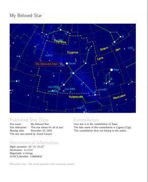 Star-naming fact sheet