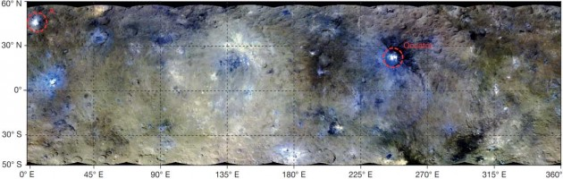 False-color map of Ceres