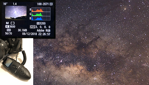 Shooting the Milky Way