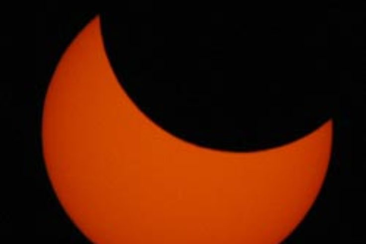 Solar eclipse from New Zealand