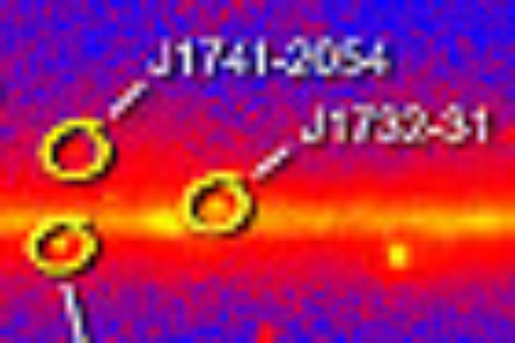 Map of gamma-ray pulsars