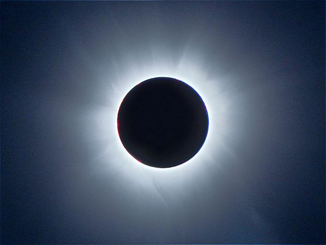 Totality above the M/V Corinthian off the Coast of Sierra Leone