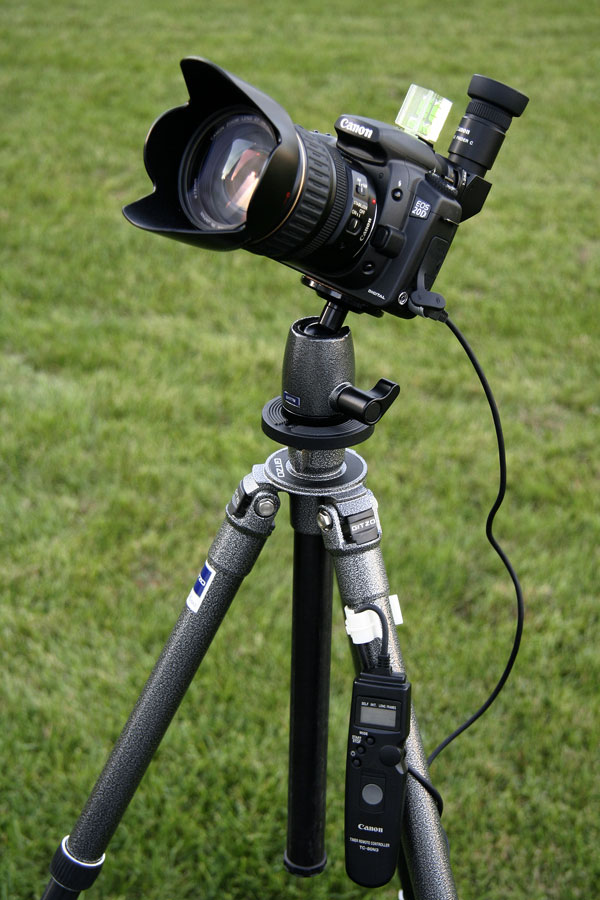 Eclipse photography camera setup