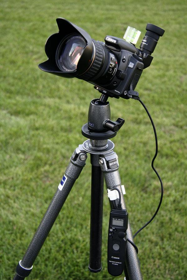 Eclipse photography camera setup