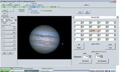 Wavelet sharpening with RegiStax. A helpful tool for planetary imaging of astrophotographs.