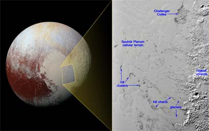 """Floating"" hills on Pluto"