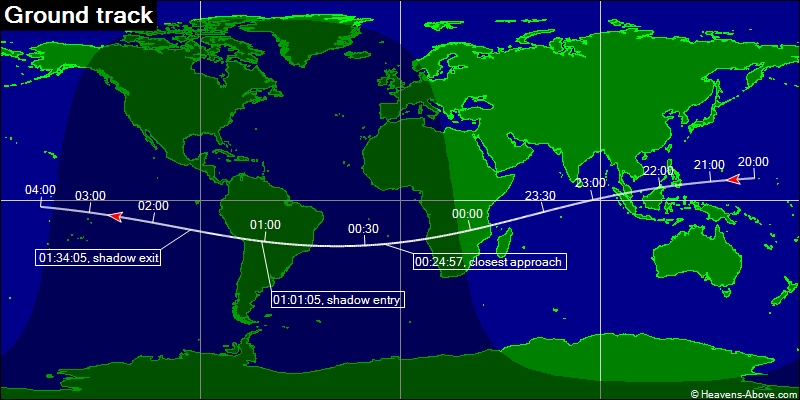 Map of BepiColombo flyby visibility