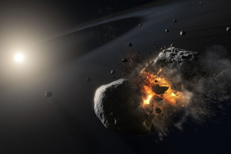 Asteroid collision