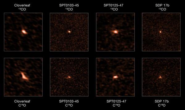 ALMA images distant starburst galaxies