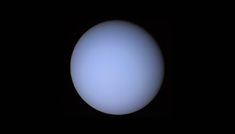 Uranus was showing a very blank face when Voyager 2 flew by it in January 1986.