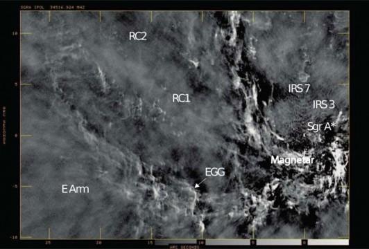 Radio-wave image of galactic center