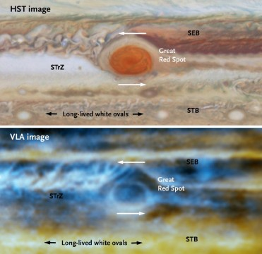Jupiter seen by Hubble and the VLA