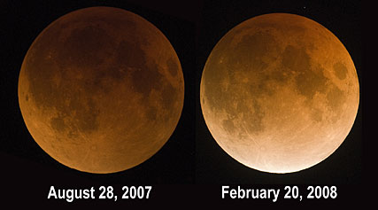 Lunar eclipse brightnesses compared