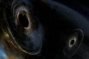 Illustration of black hole merger