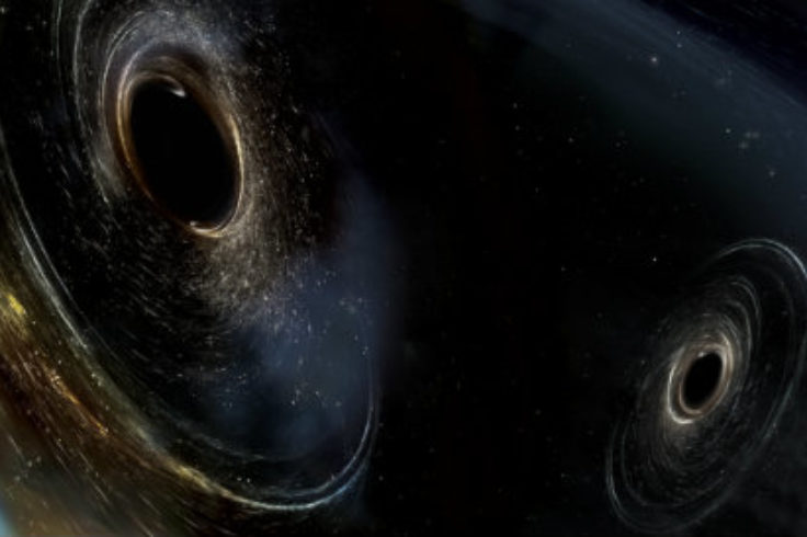 Illustration of black holes merging