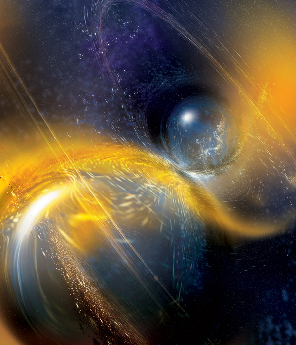 Neutron Star Pair Collides (art)