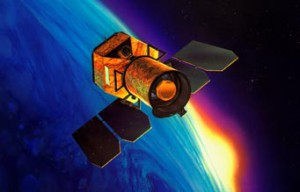 GALEX spacecraft in orbit