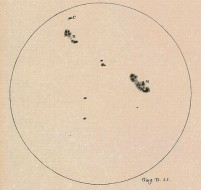 Galileo sunspot drawing