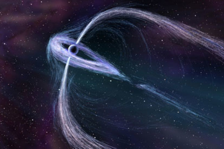 Artist's illustration of pulsar Geminga