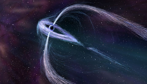 Artist's illustration of pulsar Geminga