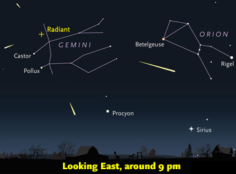 How to spot Geminid meteors