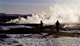 Geothermal field at Geysir