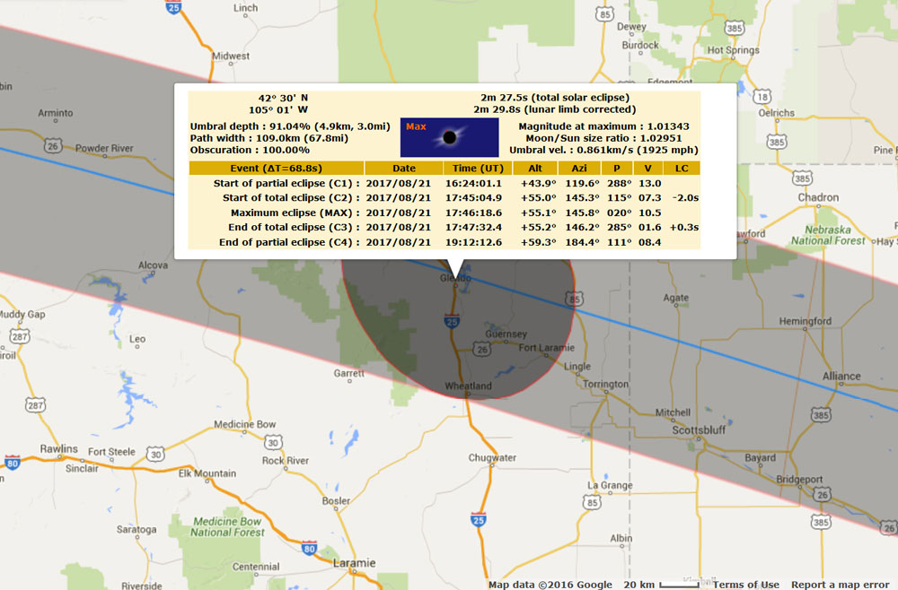 Wyoming solar eclipse stats