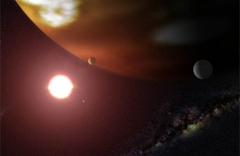Planets of dwarf star Gliese 876