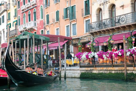 Gondola and Flowers VENICE