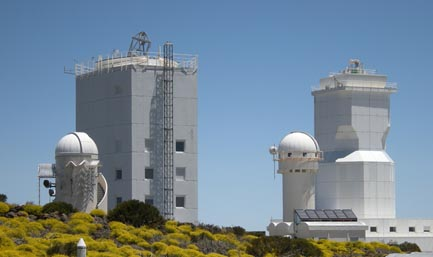 Telescopes at Teide Observatory