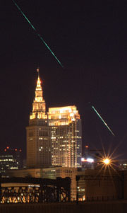 fireball over Cleveland