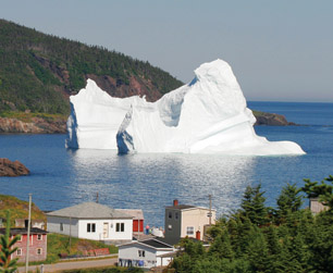 Grounded iceberg in Labrador