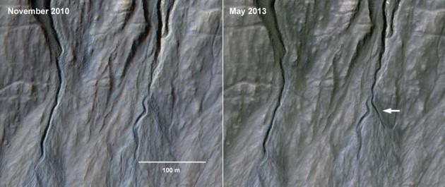 Gullies in Dunkassa crater