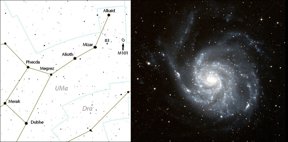 M101 Chart and Image