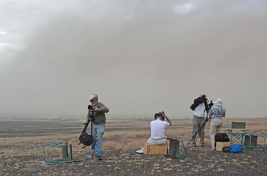 Sandstorm during November's eclipse
