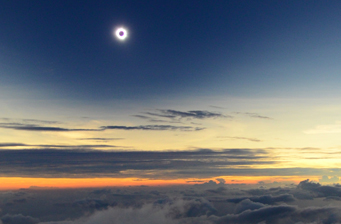 Totality above the clouds