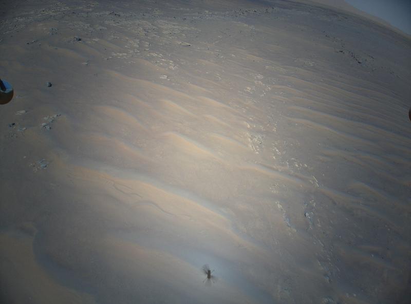 Ingenuity helicopter's view of Mars dune