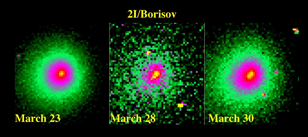 Comet Borisov breaking up?