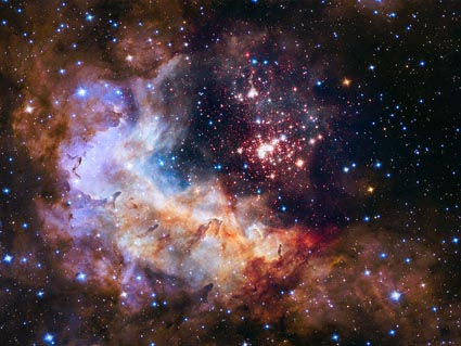 Westerlund 2 as viewed by Hubble's WFC3