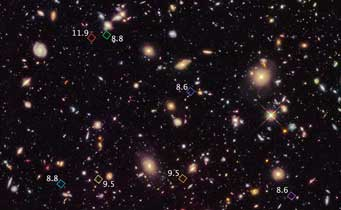distant galaxies seen by Hubble
